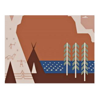 Carte Postale Voir le voyage vintage de l'Amérique Montana