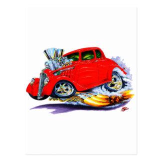 Carte Postale Voiture 1933-36 de rouge de Willys