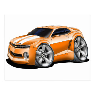 Carte Postale Voiture 2010-11 Orange-Blanche de Camaro