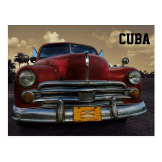 Carte Postale Voiture américaine classique dans Vinales, Cuba