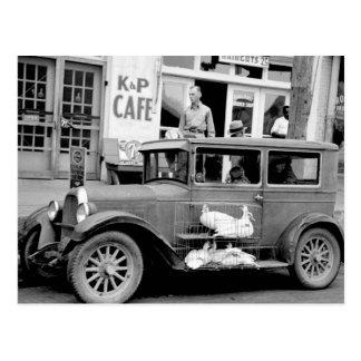 Carte Postale Voiture ancienne, les années 1930