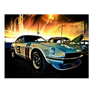Carte Postale Voiture de course de Datsun Z
