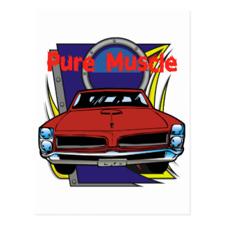 Carte Postale Voiture de muscle de 1966 GTO