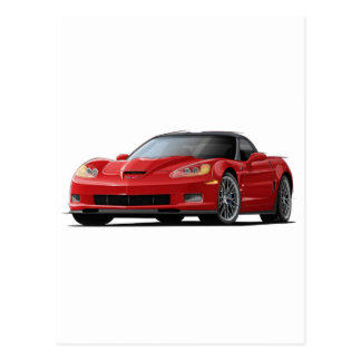 Carte Postale Voiture de rouge de Corvette ZR1