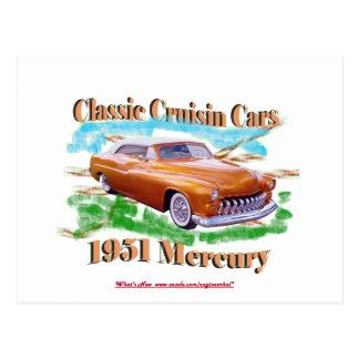 Carte Postale Voitures classiques de Cruisin Mercury 1951