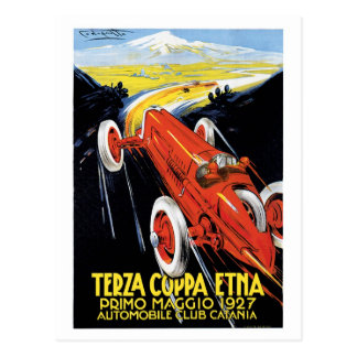 Carte Postale Voitures de course vintages Grand prix des années
