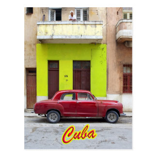 Carte Postale Voitures vintages et vieilles façades, La Havane,