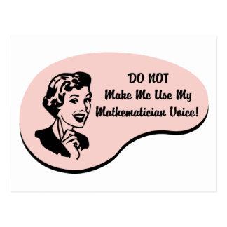 Carte Postale Voix de mathématicien