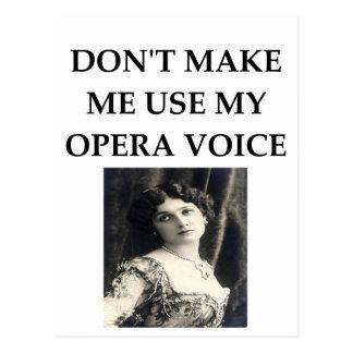 Carte Postale voix d'opéra