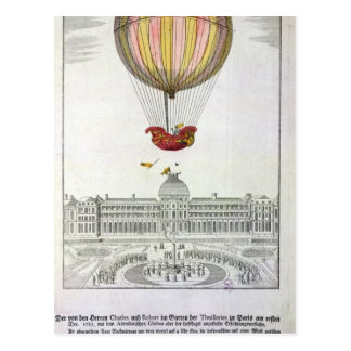 Carte Postale Vol de Jacques Charles et de Nicholas Robert