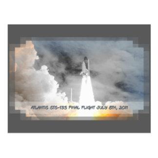 Carte Postale Vol de la navette spatiale de l'Atlantide dernier
