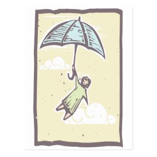 Carte Postale Vol de parapluie