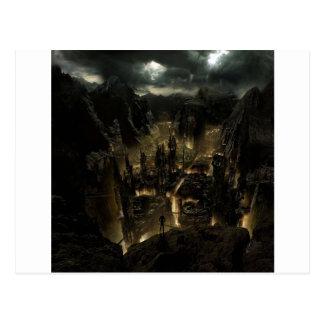 Carte Postale Volcan abstrait de ville