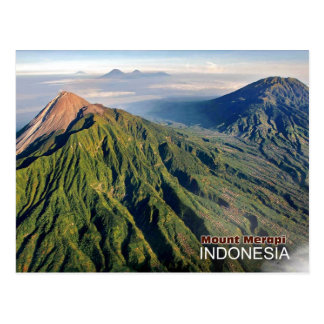 Carte Postale Volcan du mont Merapi en Indonésie