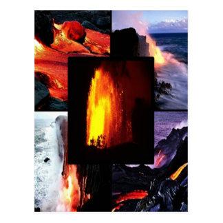 Carte Postale Volcan hawaïen de lave