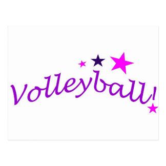 Carte Postale Volleyball arqué avec des étoiles