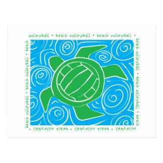 Carte Postale Volleyball de plage de tortue