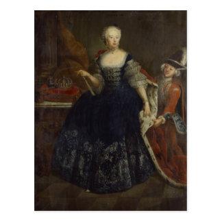 Carte Postale Von Brunswick d'Elisabeth Christine comme reine