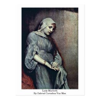 Carte Postale Von de Madame Macbeth By Gabriel Cornélius maximum