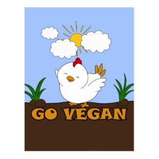 Carte Postale Vont le végétalien - poussin mignon