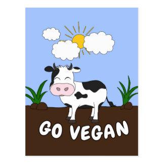 Carte Postale Vont le végétalien - vache mignonne