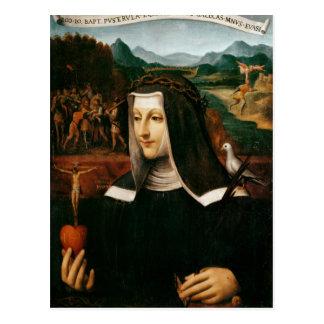 Carte Postale Voto ex a consacré à St Catherine de Sienne