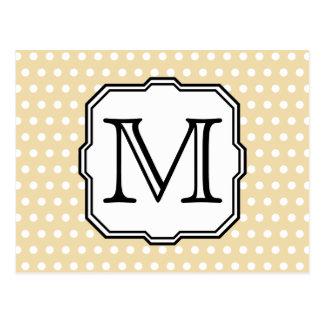 Carte Postale Votre lettre. Monogramme fait sur commande. Point