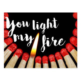 Carte Postale Vous allumez mon feu