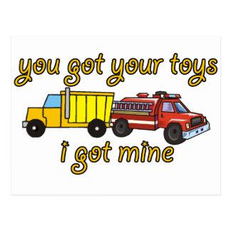 Carte Postale Vous avez obtenu vos jouets, j'avez obtenu le mien