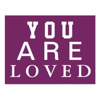 Carte Postale Vous êtes aimés - inspirez - motivez - encouragez