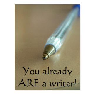 Carte Postale Vous ÊTES déjà un auteur ! (avec le stylo)