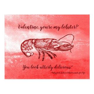 Carte Postale Vous êtes mon homard Valentine vilain
