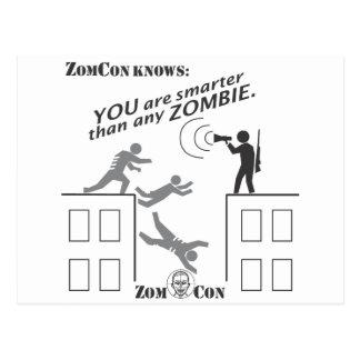 Carte Postale Vous êtes plus futés que n'importe quel zombi