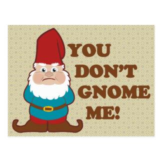 Carte Postale Vous ne faites pas gnome je !