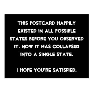 Carte Postale Vous vous êtes effondrés il ! Humour de physique