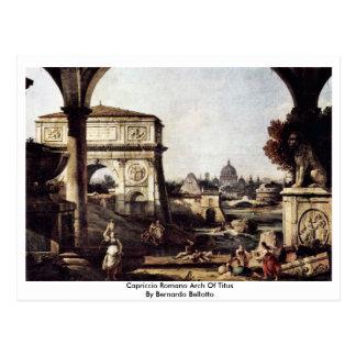 Carte Postale Voûte de romano de Capriccio par Bernardo Bellotto