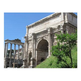 Carte Postale Voûte romaine de forum de Titus - Rome, Italie