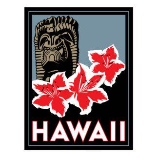 Carte Postale voyage d'art déco d'Hawaï Etats-Unis Etats-Unis
