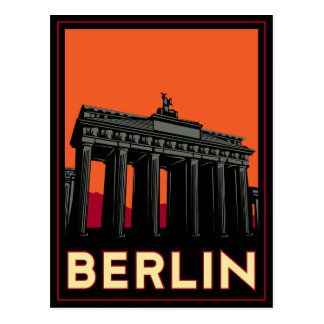 Carte Postale voyage de l'art déco oktoberfest de Berlin