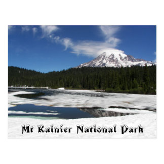 Carte Postale Voyage de réflexion congelé par mont Rainier