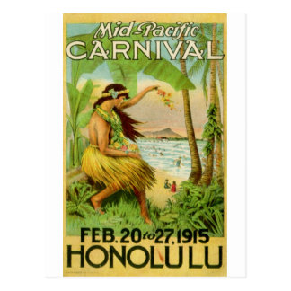 Carte Postale Voyage hawaïen vintage