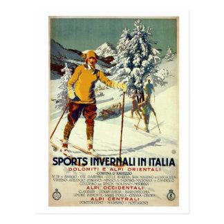 Carte Postale Voyage italien des années 1920 d'hiver d'annonce