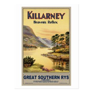 Carte Postale Voyage Killarney Irlande par des chemins de fer