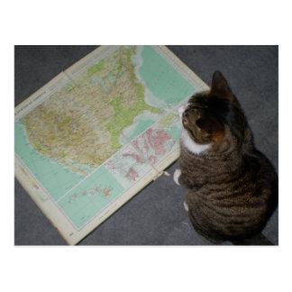 Carte Postale Voyage par la route