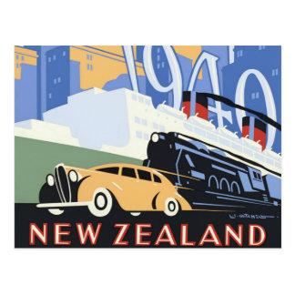 Carte Postale Voyage vintage centennal de la Nouvelle Zélande