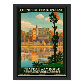 Carte Postale Voyage vintage château de France, Amboise -