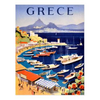 Carte Postale Voyage vintage d'Athènes Grèce