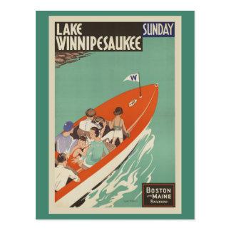 Carte Postale Voyage vintage de chemin de fer de Winnipesaukee