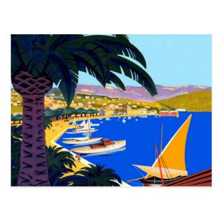 Carte Postale Voyage vintage de Cote d'Azur