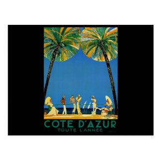 Carte Postale Voyage vintage de Français de Cote d'Azur